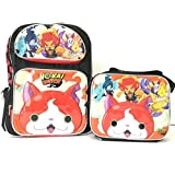 """Yokai Watch Large School 16"""" Backpack Boy's Book Bag with Lunch Bag Set"""