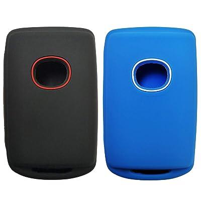2Pcs Smart Key Cover Rubber Case Holder Skin Jacket Accessory Keyless Entry For 2020 2020 Mazda 3 WAZSKE11D01: Automotive