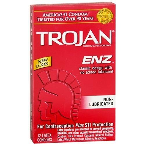 Trojan Enz Non Lub 12'S Size 12ct