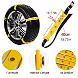 FairyMe Tire Chains Car Safety Chains Cable Traction Mud Chains Slush Chains Snow Tire Chains Tire Anti-Skid Chains for Cars for Tire Width
