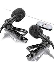 YouMic Micrófono De Solapa Dual - Micrófono De 2 Solapas - Juego De Micrófono De Solapa - Micrófono De 2 Paquetes para Entrevista, Blog O Podcast