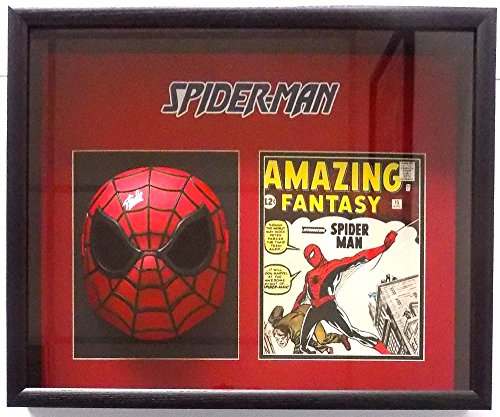 Stan Lee Marvel Comics Signed Spiderman Mask Shadowbox JSA