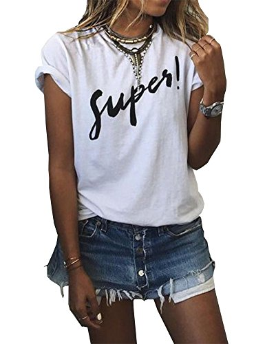 cd83df77588 Haola Women s Summer Street Printed Tops Funny Juniors T Shirt Short ...