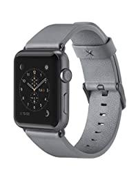 Belkin F8W732btC02 Classic Leather Wristband for Apple Watch Series 2 & 1, 42 mm, Gray