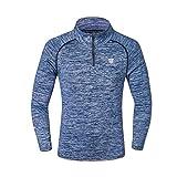 FGKJ Men Sports Fitness Training Suit Outdoor Running Quick Dry Long Sleeve Activewear Sweatshirt