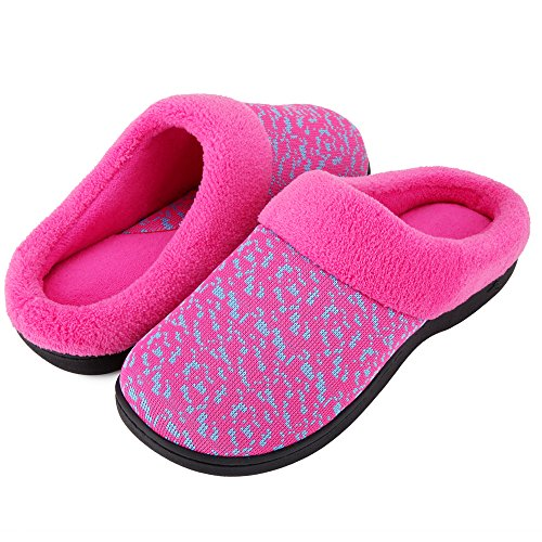 Slip Slippers House Outdoor Foam Shoes Terry Knit Lining On French Memory Wishcotton Women's Rose Indoor YxSUq1