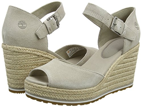 simply Femme Taupe Marron Canvas And Suede Nice L47 Timberland Coast Strap Mules 1fx0ZpWwq