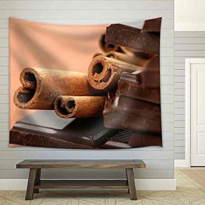 Premium Creation, Astonishing Craft, Close Ups of Chocolate and Cinnamon Food and Drink Fabric Wall