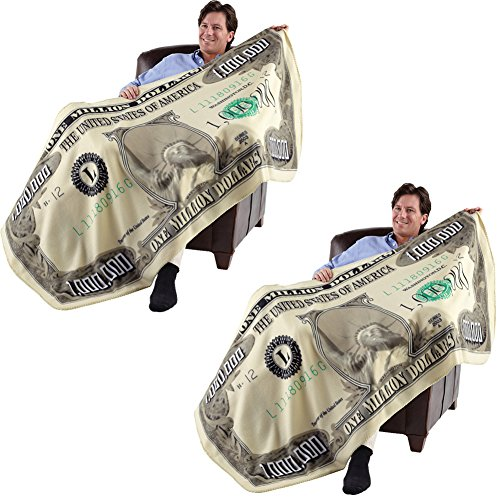 ((Set of 2) Million Dollar Blanket- Gives New Meaning to Financial Security!)