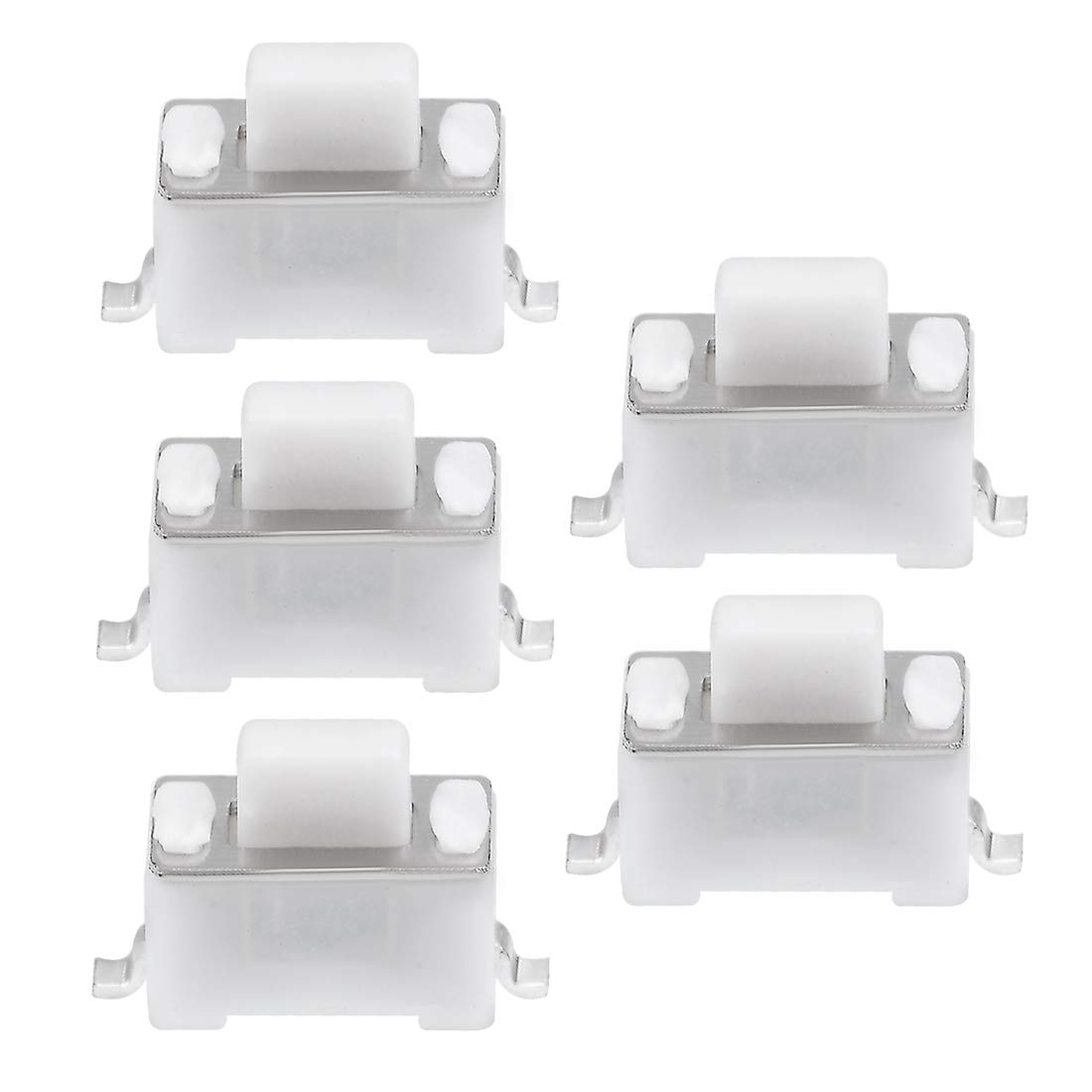 uxcell 3x6x5mm Momentary PCB SMT SMD Rectangle Push Button SPST Tactile Tact Switch White 20PCS