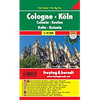 Colonia, plano callejero de bolsillo plastificado. City Pocket. Escala 1:10.000. Freytag & Berndt.: Stadskaart 1:10 000…