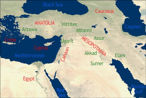 Poster - Bible Map Of Ancient Middle East In Antiquity
