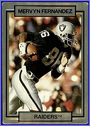 1990 Action Packed #125 Mervyn Fernandez OAKLAND RAIDERS SAN JOSE