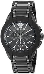 Versace Men's VQN070015 Character Analog Display Quartz Black Watch
