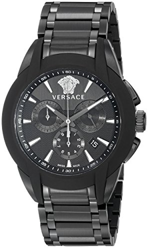 Versace Men's VQN070015 Character Analog Display Quartz Black Watch