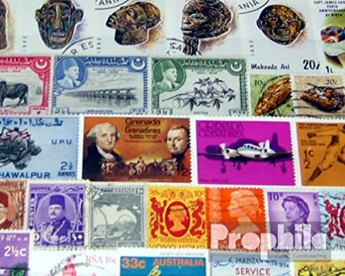 United Kingdom 100 different stamps UK Colonies and Empire (Stamps for collectors)