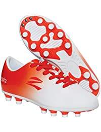 Wide Traxx White/Red-Orange Soccer Cleat Adult