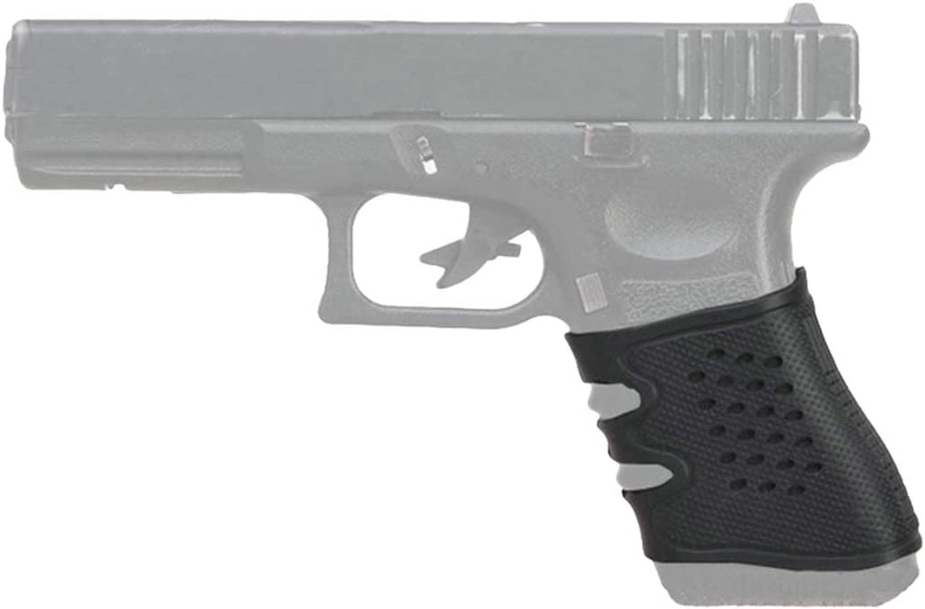 Guante Cubierta de la Manga de Anti Slip for la mayoría de Pistolas Glock Airsoft Caza Accesorios Pistola táctica apretón de Goma Negro