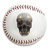 Nvthenpiaoliang Colorful Fractal Skull Special Art Soft Standard Practice Ball Baseball Game Ball