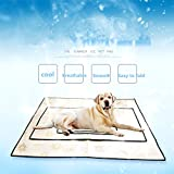Silence Shopping Waterproof Air Conditioning Mats Pet Food Mat For Dog or Cat Food Bowls With Non Skid Washable Waterproof Spill-Proof Design(yellow) (XL)