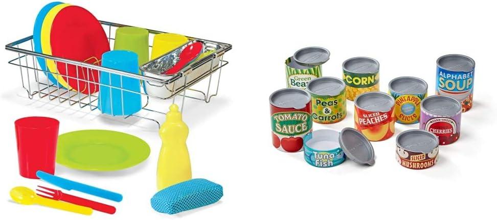 Melissa & Doug Wash & Dry Dish Set & & Doug Lets Play House ...