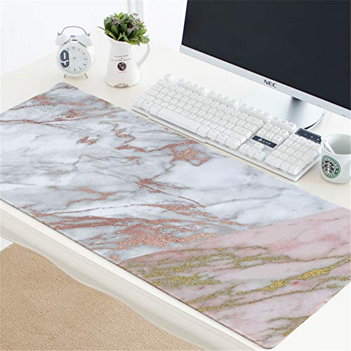 LL-Coeur Marble Gaming Mouse Pad Computer Keyboard Mat Office Desk Pad (15, 900 x 400 x 3 mm)