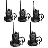 Baofeng BF-888S Rechargeable 3 Miles (5 km) Long Range 5W Walkie Talkies 16 Channel Handheld Walkie Talkie Built in LED Torch Microphone With Earpiece(Pack of 5) 5Pack