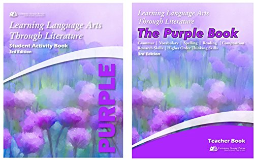Purple Book Set, Learning Language Arts Through Literature, Textbook + Student Activity Book, set of 2 books