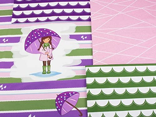 Mamasliebchen Jersey-Stoff Meterware Rainy Day #Violet Olive ca. 0,55m - 1 Panel