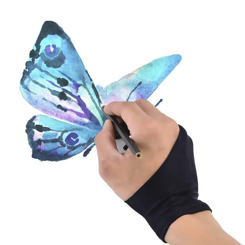 guantes para dedos medium Black M Outtybrave Guantes antiincrustantes para pintar con pantalla t/áctil y dos dedos material profesional para dibujar y dibujar antipolvo