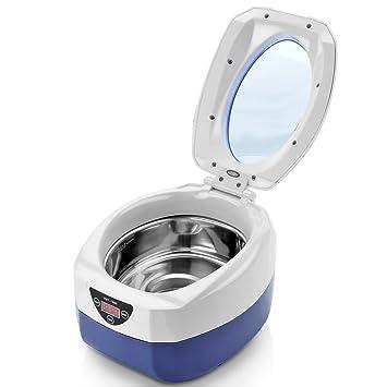 flexzion Digital limpiador ultrasónico 750 ml Solución De Limpieza De Pulido máquina equipo para el hogar comercial joyería gafas collares anillos relojes ...