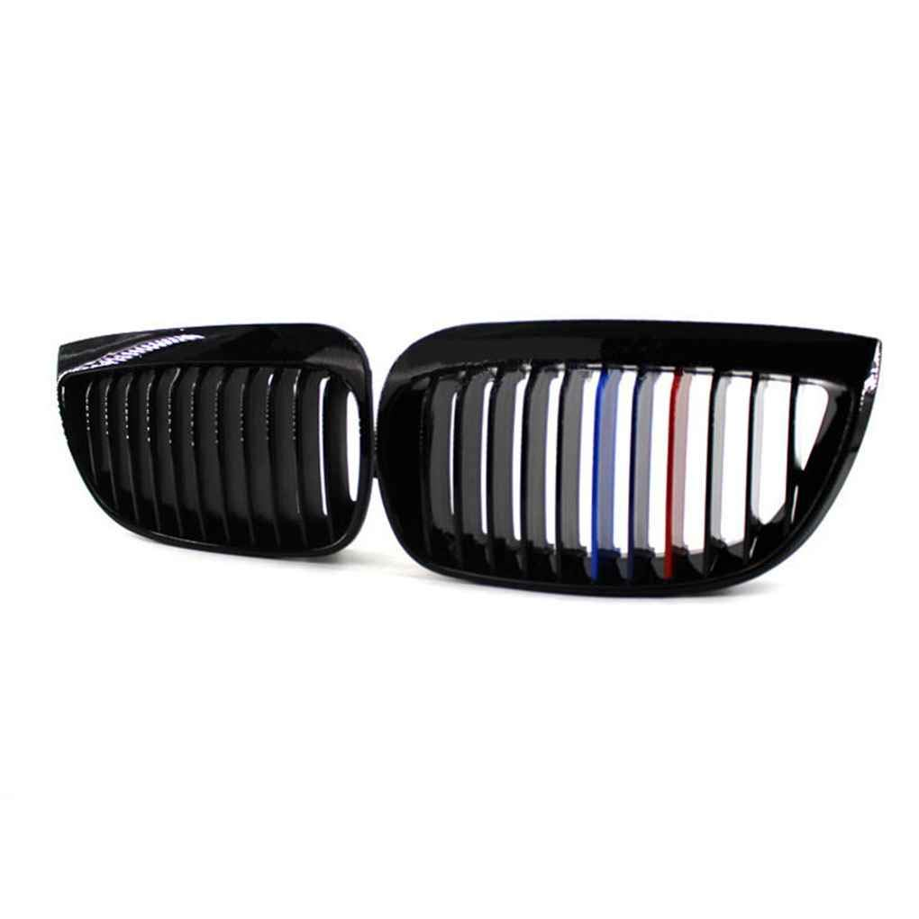 fgghfgrtgtg Matte Black M-Colore Auto Anteriori Griglie Rene E81 E87 120d 120i 130i 2004-2007