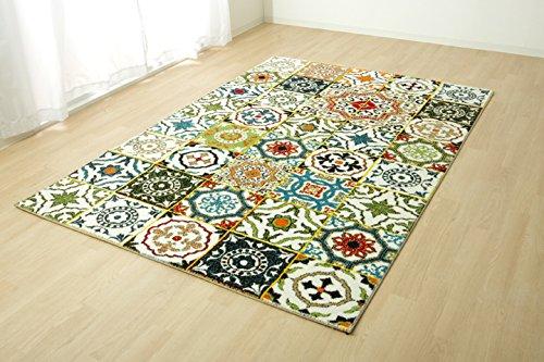 トルコ製 ウィルトン織 カーペット「ダンテ」《西濃》約133×190cm(#2342829) ラグ カーペット センターラグ 長方形 B075HBGNL3
