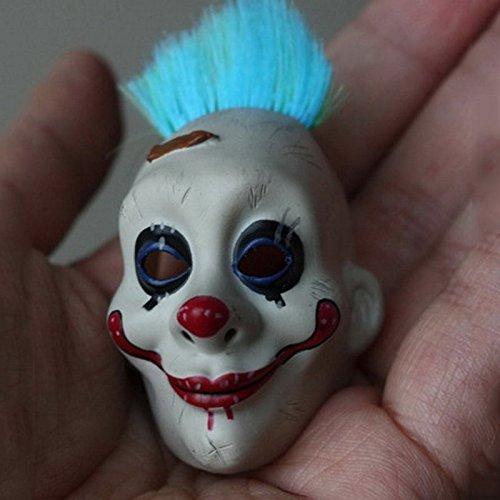Smartchef 1/6 figure batman The dark knight Joker face mask Blue flocking clown veil