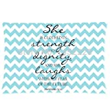 Kenneth Case Butuku Decorative and white Chevron Bible Verse Inspirational Quotes Pillowcase 18X18 Inch(One Side)