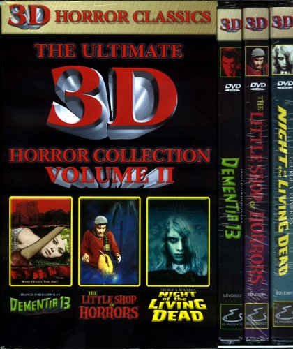 The Ultimate 3D Horror Collection - Vol 2 , Dementia 13 ,The Little Shop of Horrors, Night of the Living Dead (Includes Complete 3D Viewing System for Two)