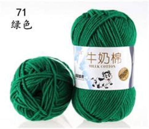 FUHUA Hilo Leche Algodón Hilo de Crochet Suave Hilo para bebés DIY para Tejer Lana Tejido