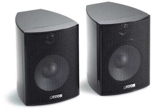 Canton Plus MX.2 2-Wege Regallautsprecher (40/70 Watt, 85 dB) Paar schwarz