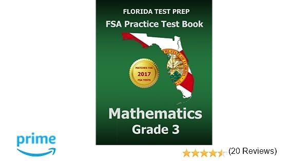 FLORIDA TEST PREP FSA Practice Test Book Mathematics Grade 3 ...