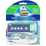 Scrubbing Bubbles Toilet Gel Rain Shower, 1 Dispenser and 6 Gel Stamps (2 Pack) - Packaging May Vary