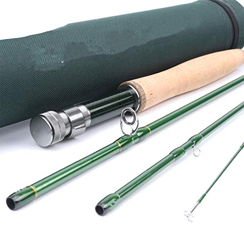 3/4/5/6/7/8/9/10/12 Wt Fly Rod Carbon Fiber Fast Action Fly Fishing Rod with Cordura Tube Fly Fishing Rod,9Ft 8Wt 4Sec (270Cm)