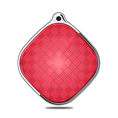 Child Kid Elder Pet GPS Tracker Smart Anti-lost Locator Real-time Tracking Finder Device One Key SOS with App Control Support GSM G-sensor Voice Monitoring Compatible with IOS and Android System(Red)