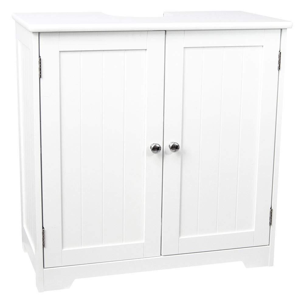 Madera de Abeto, Mueble de ba/ño de Color Blanco Armario para Lavabo Generic