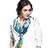 Genuine Silk Large Square Scarf 105% Mulberry Silk Scarf Spring&Autumn Western Style Free-Shipping
