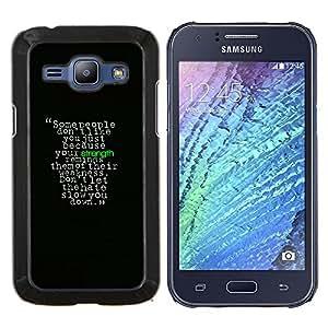 TECHCASE---Cubierta de la caja de protección para la piel dura ** Samsung Galaxy J1 J100 ** --Motivación Fuerza Mensaje