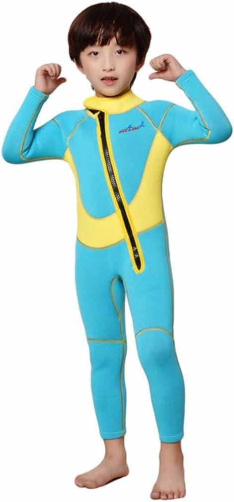 Cokar 2.5mm Neoprene Wetsuit for Kids Boys Girls One Piece Swimsuit (FBA)