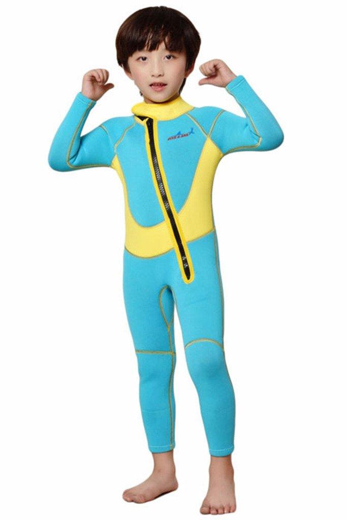 Cokar Kinder Neoprenanzug Neoprenanzug Neoprenanzug 2.5MM Einteiler mit Rückenreißverschluss Lang Sonnenschutz Wassersport B01NCLFHB8 Neoprenanzüge Beliebte Empfehlung f98ad2