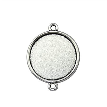 Stainless Steel Flat Round Pendant Women Cabochon For Diy Vintage Jewelry Making Necklace For Ladies Gifts High Quality Beads & Jewelry Making Back To Search Resultsjewelry & Accessories