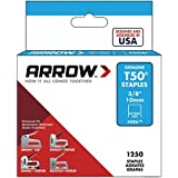 Arrow Fastener 506 Genuine T50 3/8-Inch Staples, 1250-Pack