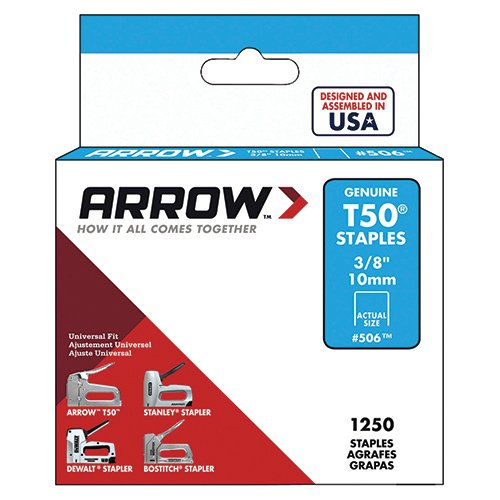Arrow Fastener 506 Genuine T50 3/8-Inch Staples, (Ace Construction Stapler)